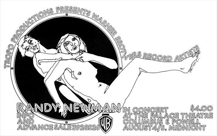 Tropo Productions Randy Newman Concert October 1972