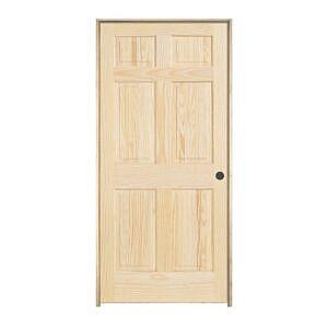 6 Panel Pine Interior Door
