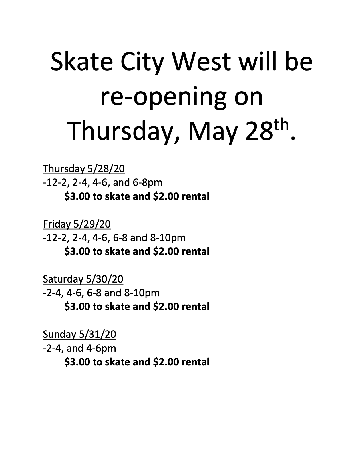 Skate City West main