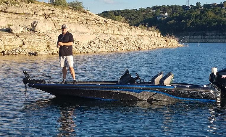 Fishing from the 2019 Nitro Z-20