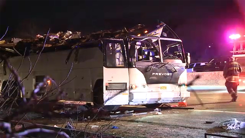 Dozens Hurt In Southern State Parkway Bus Crash