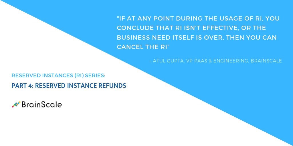 PART 4: RESERVED INSTANCE REFUNDS