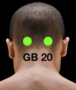 press this point at back of head for headache migraine relief