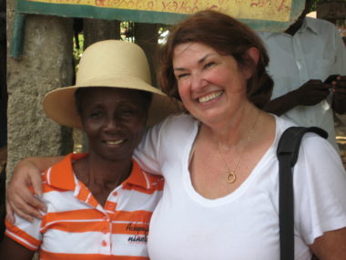 Mission co-worker Cindy Corell (right)