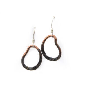 copper circles earrings