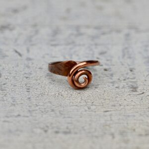 copper ring small swirl