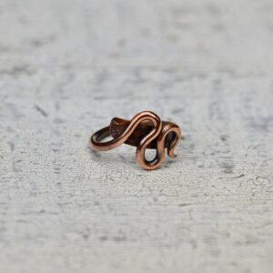 copper ring zig zag