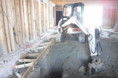 Home2Suites Lancaster - pool excavation