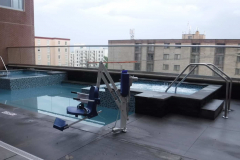 Sankey Pools - The Metropolitan at State College Rooftop Pool ADA Lift
