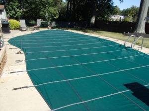 Swimming Pool Cover Installed