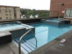 James Sankey & Associates (Sankey Pools) - The Metropolitan at State College rooftop pool
