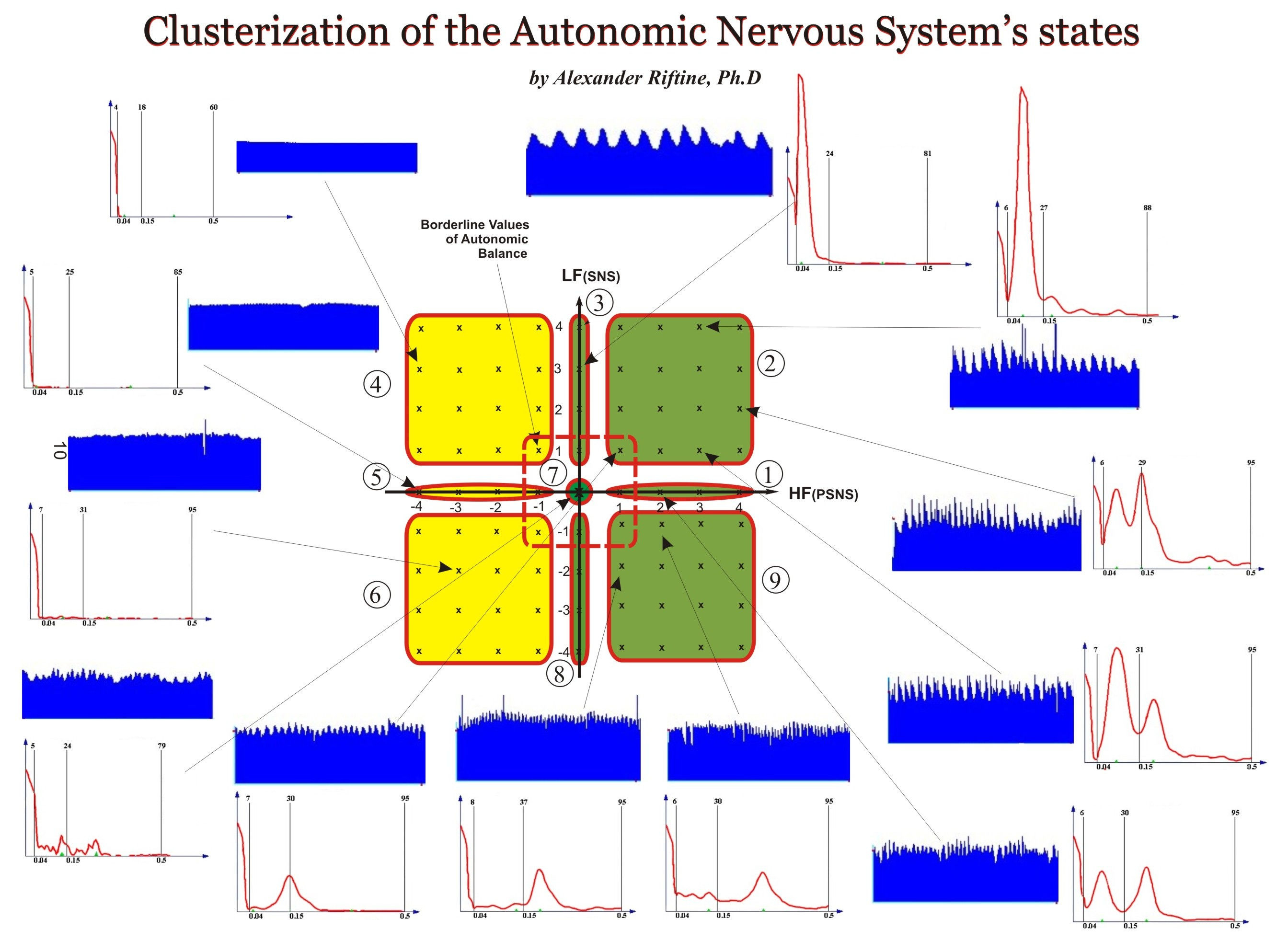Clusterization of the Autonomic Nervous System's States