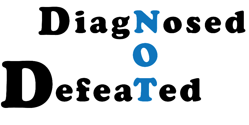 Diagnosed Not Defeated Logo