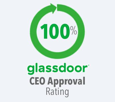 100% Glassdoor CEO Rating