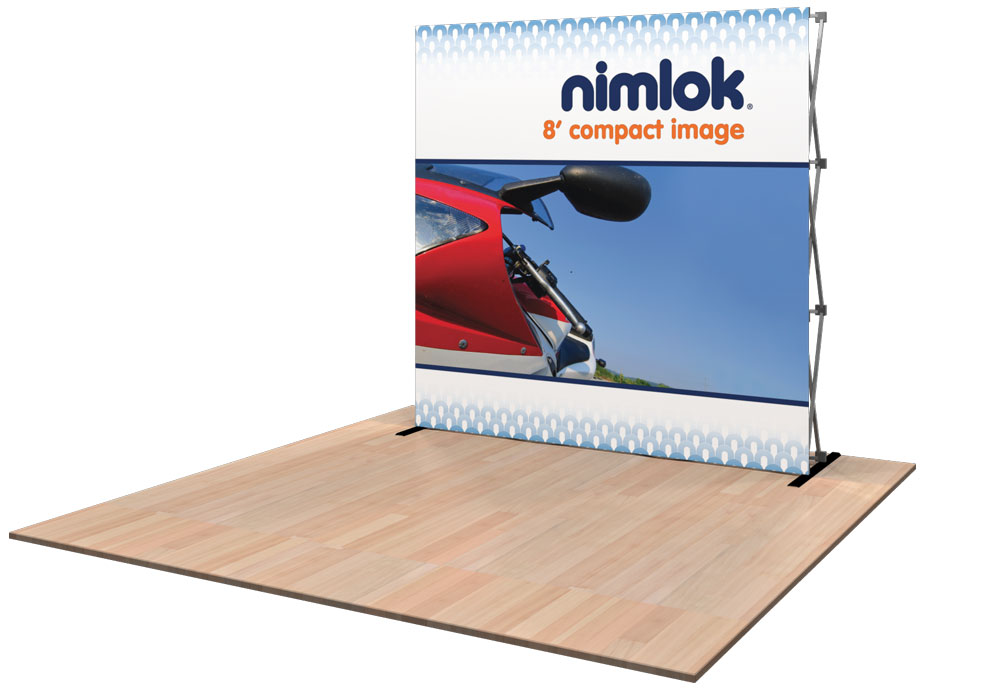 compact image 8ft tension fabric display