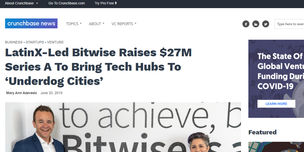 Latinx-Led Bitwise Raises $27M Series A To Bring Tech Hubs To 'Underdog Cities'
