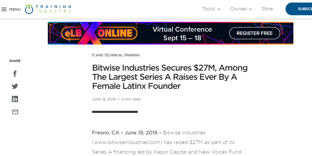 Bitwise Industries Secures $27M, Among the Largest Series A Raises Ever by a Female Latinx Founder