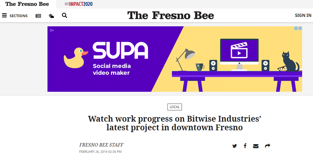 Watch Work Progress on Bitwise Industries Latest Project in Downtown Fresno