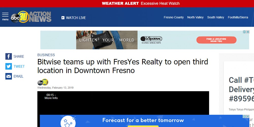Bitwise Teams Up with FresYes Realty to Open Third Location In Downtown Fresno