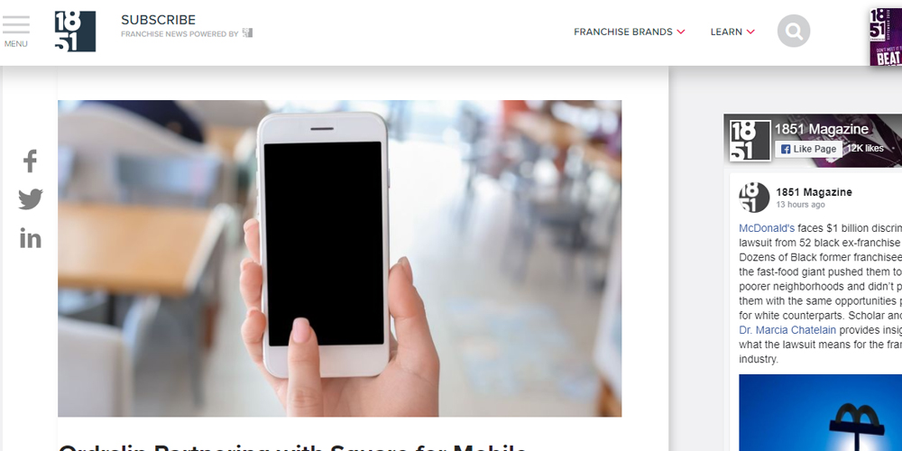 Ordrslip Partnering with Square for Mobile Ordering