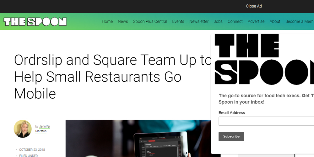 Ordrslip and Square Team Up to Help Small Restaurants Go Mobile