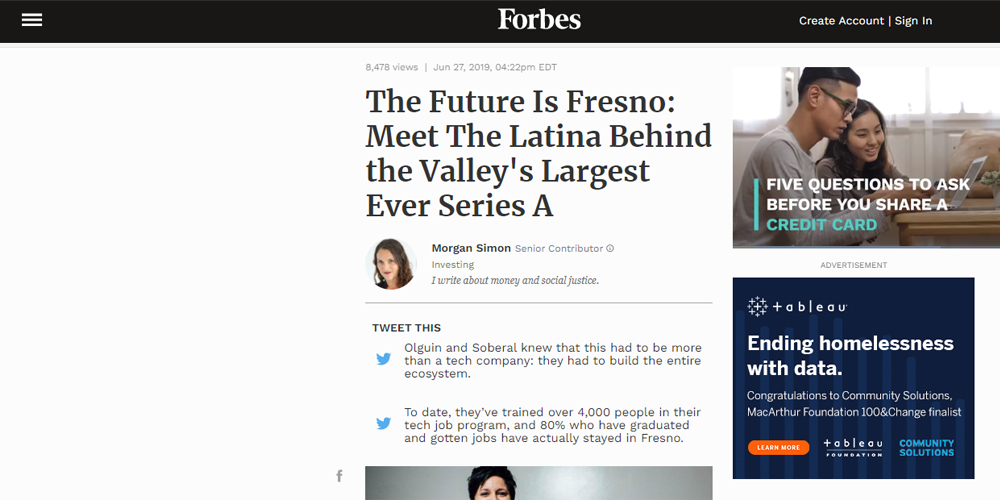 The Future Is Fresno: Meet The Latina Behind the Valley's Largest Ever Series A