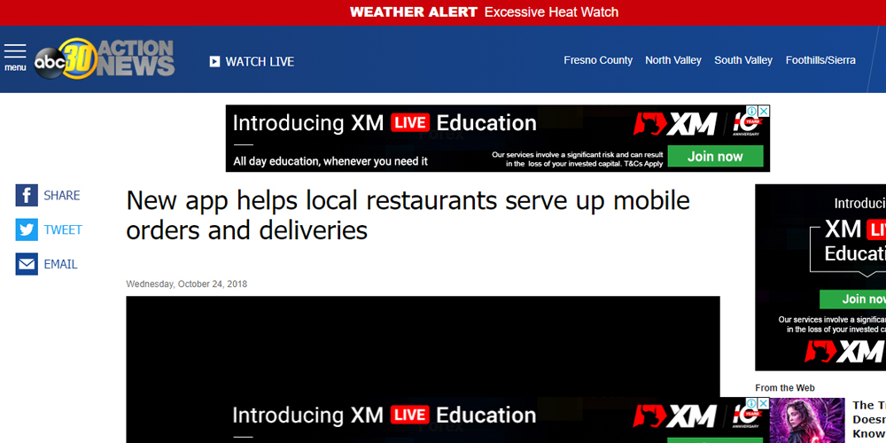 New App Helps Local Restaurant Serve Up Mobile Orders and Deliveries