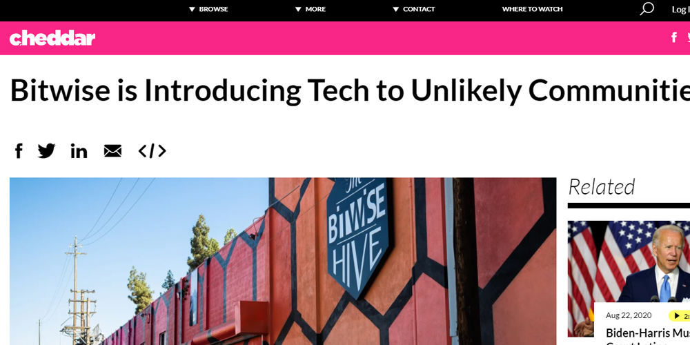 Bitwise is Introducing Tech to Unlikely Communities
