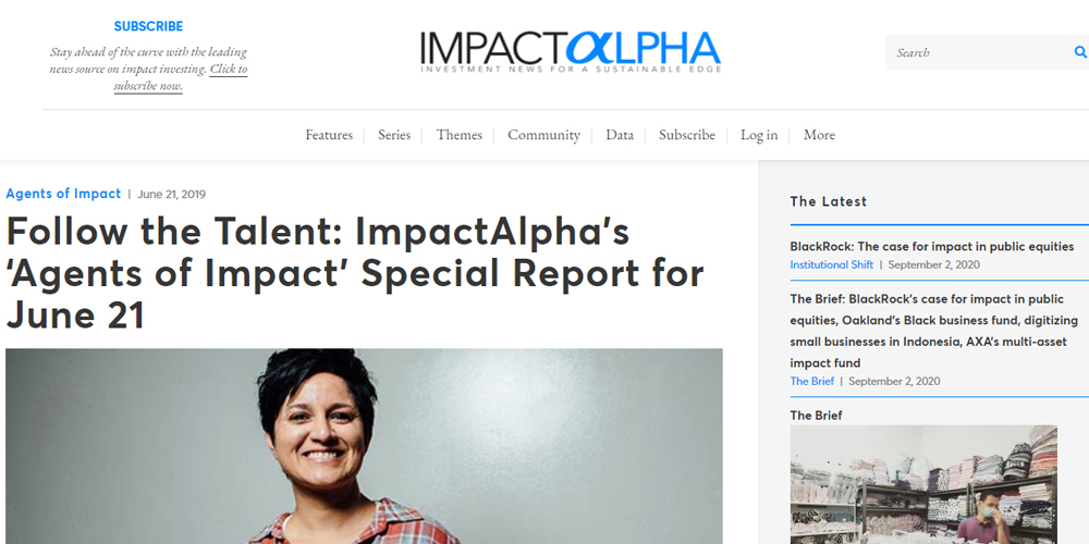 Follow The Talent: Impactalpha's 'Agents Of Impact Special Report For June 21
