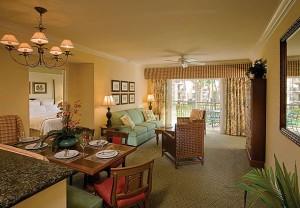 Marriott Waiohai Beach Club Villa Living Area