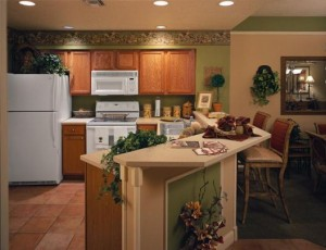 Sheraton Vistana Villages in Florida Two Bedroom Kitchen