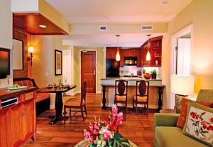 Hilton Grand Vacations Club Grand Waikikian Living Area1