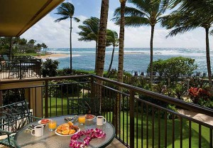 Marriott Waiohai Beach Club Balcony