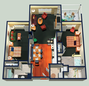 Marriott Fairway Villas Two Bedroom Floorplan