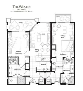 Westin-Kaanapali-Ocean-Resort-Villas-North-Two-Bedroom-Lockoff-Villa
