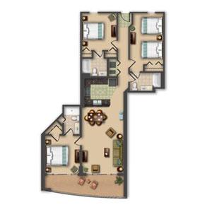 HGVC Anderson Ocean Club Floorplan