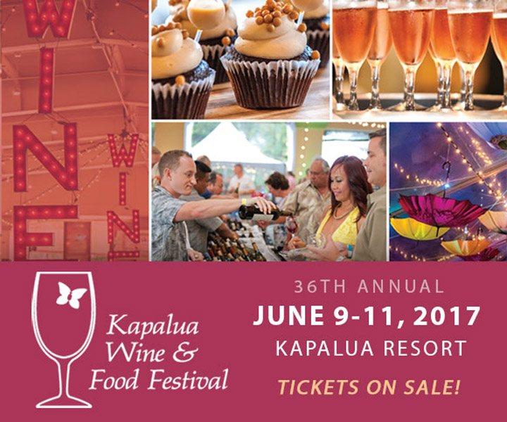 The 36th Annual Kapalua Wine & Food Festival