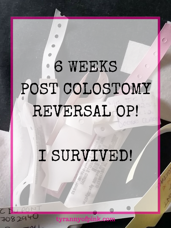 6 Weeks Post Colostomy Reversal Op! I survived!