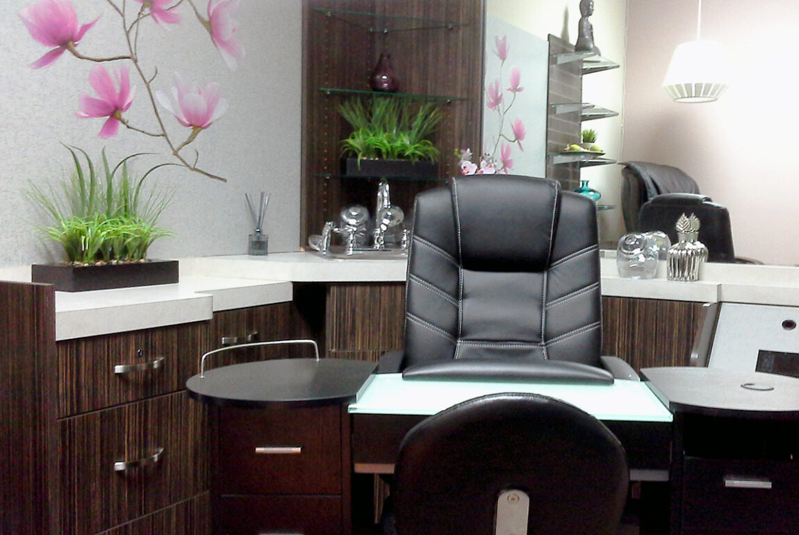 Fabrian Interiors nail salon after decorating