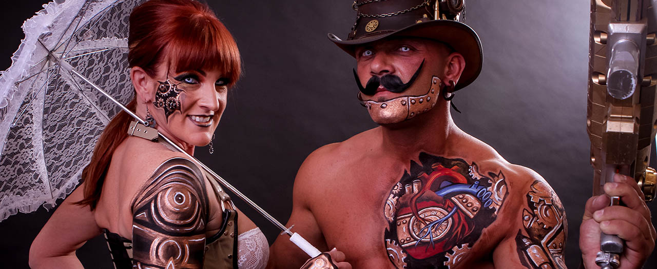 Skin City Steampunk Couple