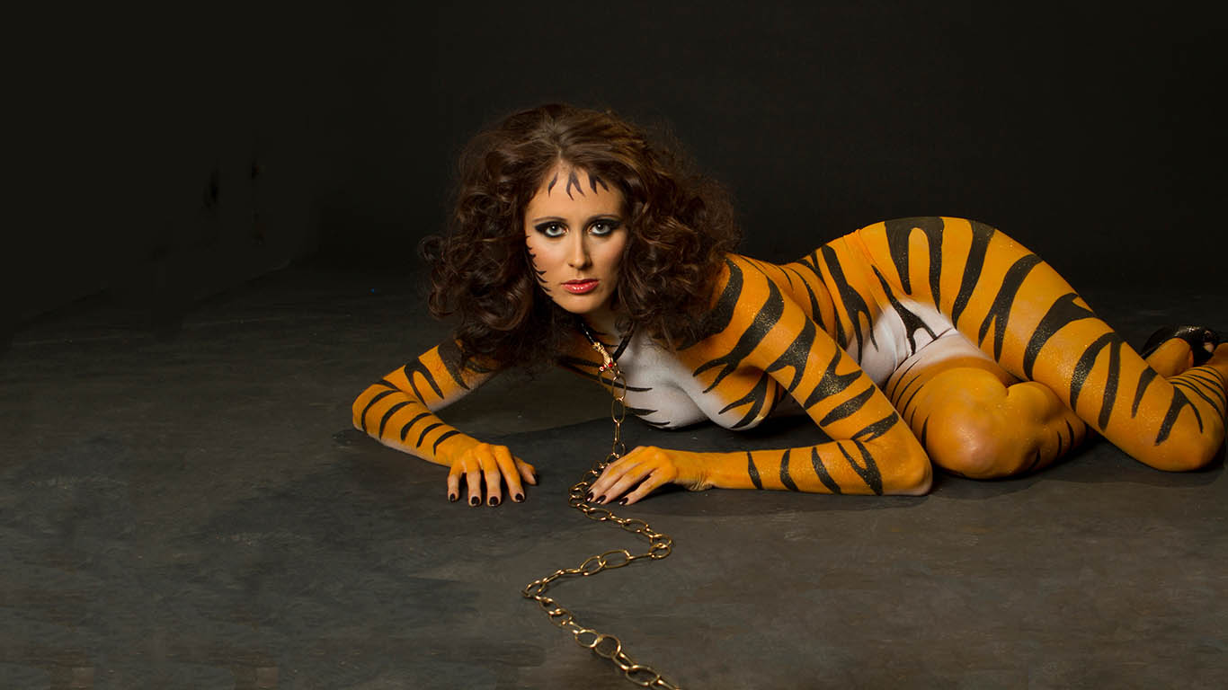 Skin City Tiger Body Paint