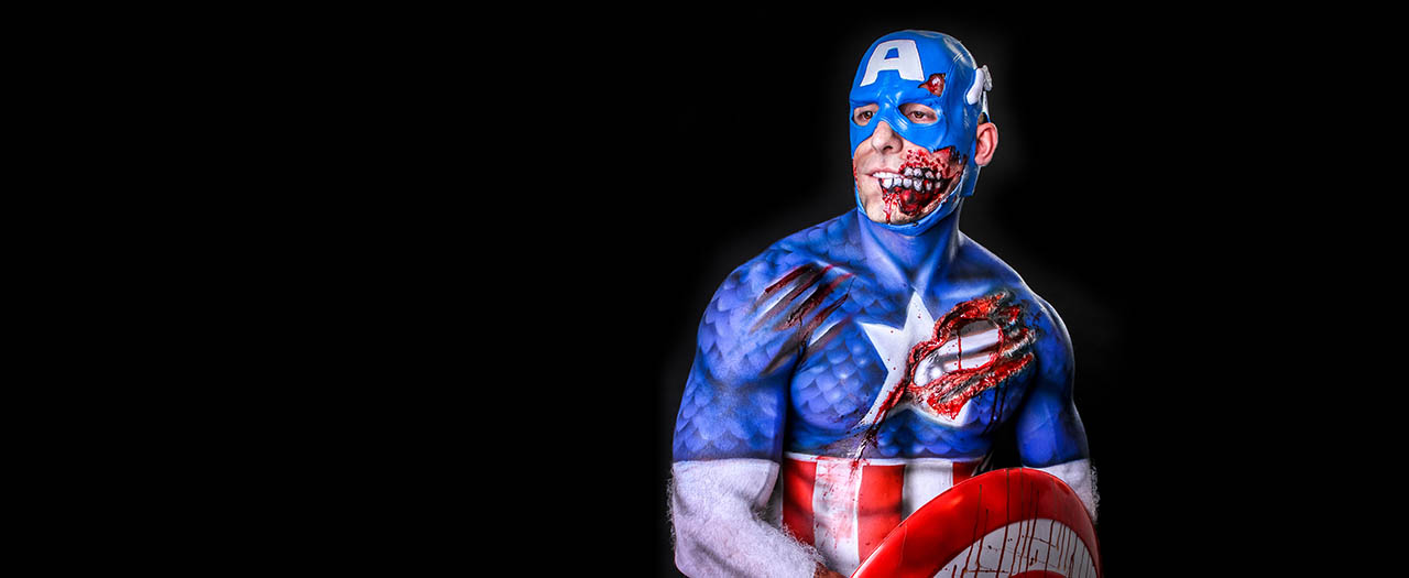 Skin City Captain America Zombie
