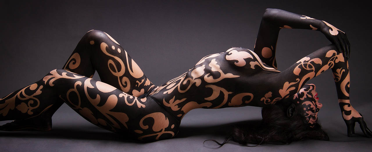 Skin City Damask Body Paint