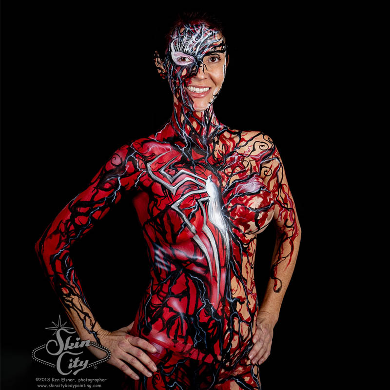 Skin City Spider Girl Body Paint