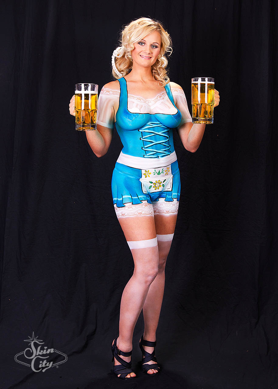 Skin City German Beer Girl