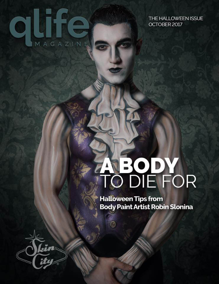 Skin City Body Painted Vampire