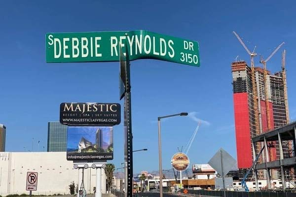 Debbie Reynolds Drive Sign