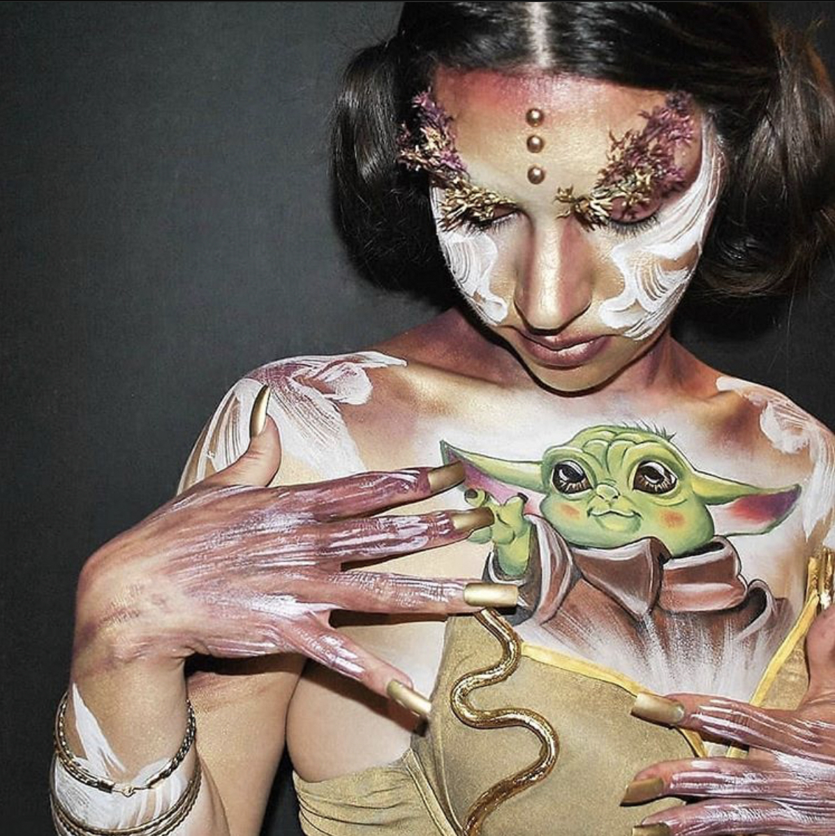May the 4th Be Floral Skin City Contest - Audience Choice Winner - Belly Art Barcelona from Spain
