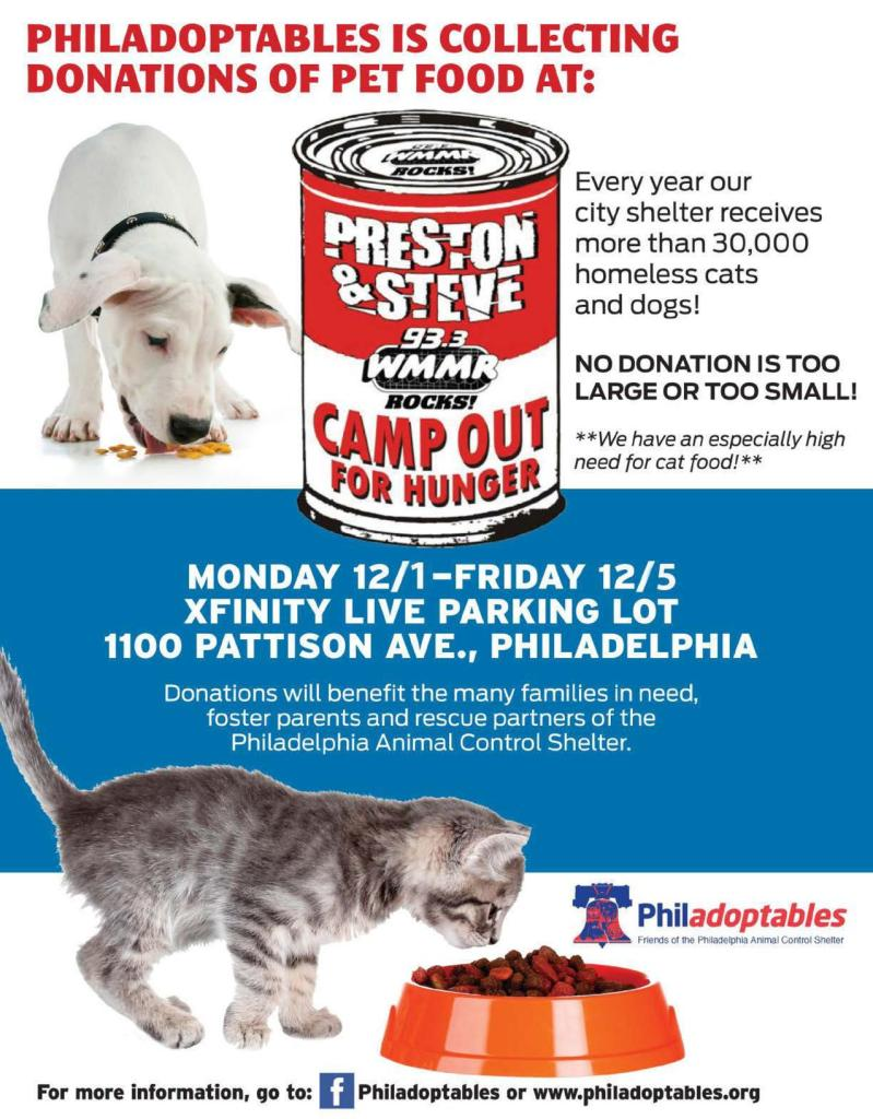 feed animals, homeless animals, camp out for hunger, COFH