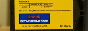 Kodak 100D super 8 film